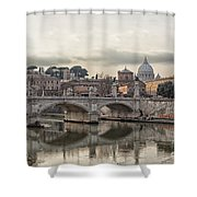 River Tiber In Rome Shower Curtain