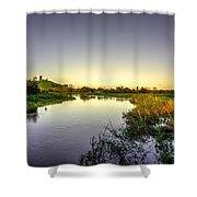 River Tone At Burrowbridge Shower Curtain