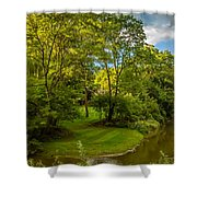 River Tranquility Shower Curtain
