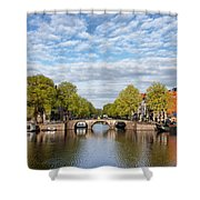 River View Of Amsterdam In The Netherlands Shower Curtain