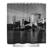 River View Of Cleveland Ohio Shower Curtain