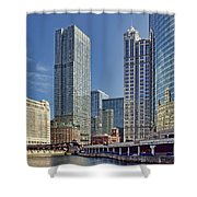 River View Skyline Shower Curtain