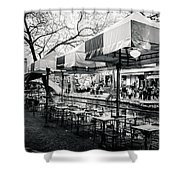 River Walk Tables Shower Curtain