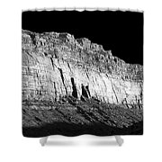 River Wall Bw Shower Curtain