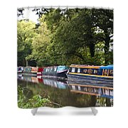 River Wey Navigation Shower Curtain