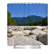 River With Mountain Shower Curtain