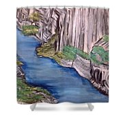 River With No End Shower Curtain