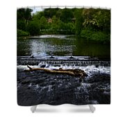 River Wye - In Peak District - England Shower Curtain