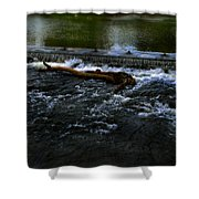 River Wye - Town Peak District - England Shower Curtain