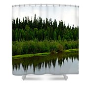 Riverbank Theater Shower Curtain
