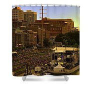 Riverfront Concert Shower Curtain by Diana Powell
