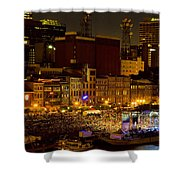 Riverfront Evening Concert Shower Curtain