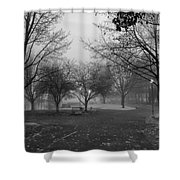 Riverfront Park Of Spokane Shower Curtain by Daniel Hagerman
