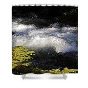 River's Ebb Shower Curtain
