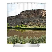 River's Rough Bluff Shower Curtain