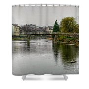 The River Kent At Kirkland In Kendal Shower Curtain