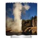 Riverside Geyser Eruption Shower Curtain