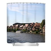 Riverside Of Bamberg - Germany Shower Curtain