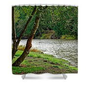Riverside Picnic Shower Curtain