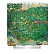 Riverview Reflections Shower Curtain