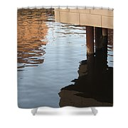 Riverwalk Low View Refections Shower Curtain