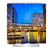 Riverwalk Shimmer Shower Curtain