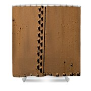 Riveted Plates   #1612 Shower Curtain