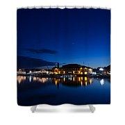 Riviera Blue Shower Curtain