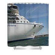 Riviera Ocean Liner Shower Curtain