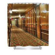 Rms Queen Mary Passenger Hallway Passageway  Shower Curtain