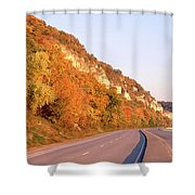 Road Along A River, Great River Road Shower Curtain