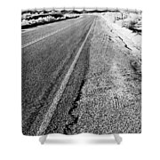 Road In The Desert #1 Shower Curtain