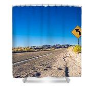 Road In The Desert #2 Shower Curtain