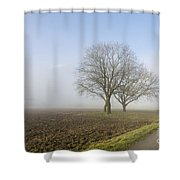 Road In The Fog Shower Curtain