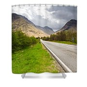 Road Into Glen Coe Shower Curtain