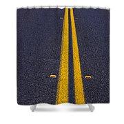 Road Stripe  Shower Curtain