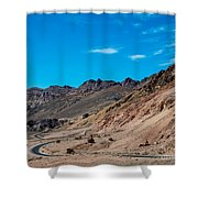 Road Through Badwater Shower Curtain