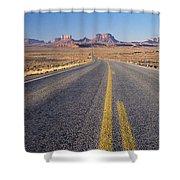 Road Through Monument Valley, Utah Shower Curtain