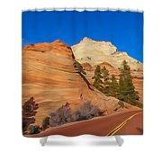 Road Through Zion Np Shower Curtain