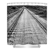 Road To Everywhere Bw Shower Curtain