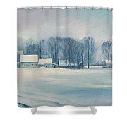 Road To Felchville Vermont Shower Curtain