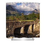 Road To Many Glacier Shower Curtain