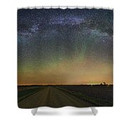 Road To Nowhere   Air Glow Shower Curtain