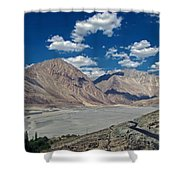 Road To Nubra Valley Shower Curtain