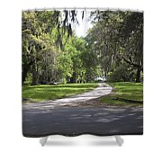 Road To Ruins Shower Curtain