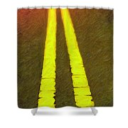 Road To Taos Shower Curtain