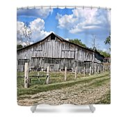 Road To The Barn - Featured In Old Building And Ruins Group Shower Curtain