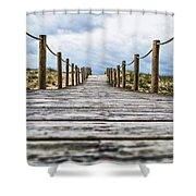 Road To The Dunes Shower Curtain