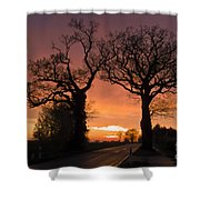 Road To The Night Shower Curtain