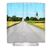 Road To The Village Shower Curtain